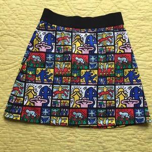 Alice + Olivia x Keith Haring Riley Mini Skirt